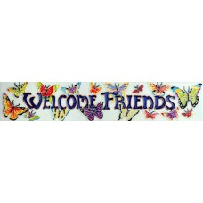 "3"" X 16""  Welcome Friends"