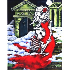 """11""""x14"""" Day of Died Wedding Couple"""
