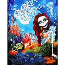"""11""""x14"""" Day of Died Mermaid"""