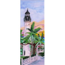 "6"" X 16"" Key West Lighthouse"