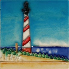 "3""X3"" MAGNET Red & White Lighthouse"