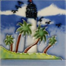"""3""""X3"""" MAGNET White Lighthouse I"""