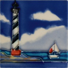 "3""X3"" MAGNET Lighthouse With Boat"