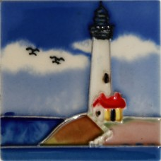 "3""X3"" MAGNET White Lighthouse II"