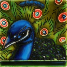 "3""X3"" MAGNET Dark Blue Peacock"