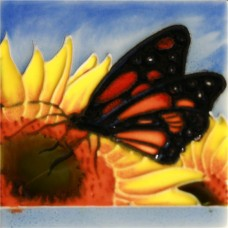 """3""""X3"""" MAGNET Monarch Butterfly on Sunflower"""