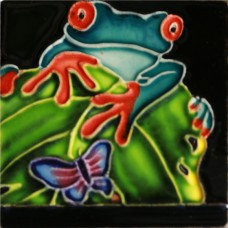 """3""""X3"""" MAGNET Blue Red Eyed Tree Frog"""