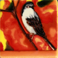 """3""""X3"""" MAGNET Brown And White Bird"""