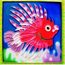 "4"" X 4"" Lion Fish"