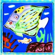"""4"""" X 4"""" Blue Fish"""