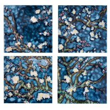 "4"" X 4"" Set of 4 -  Branches By Van Gogh"