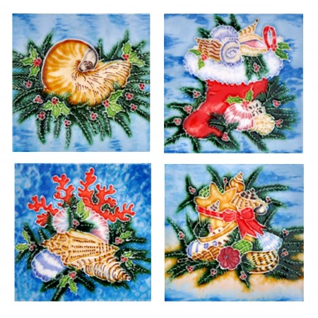 "4"" X 4"" Set of 4 -  SeaShell"