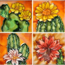 "4"" X 4"" Set of 4 - Cactus"