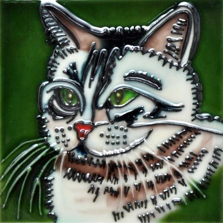 "4"" X 4"" Set of 4 - Cat Face"