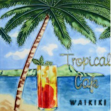 """8""""x 8"""" Tropical Café"""