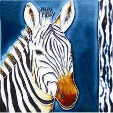 """8""""x 8""""  Zebra"""