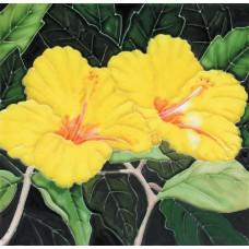 """8""""x8"""" Yellow hibiscuses"""