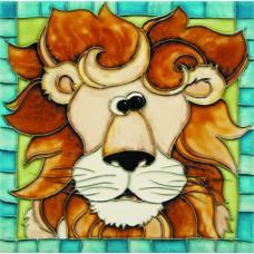 """8""""x 8"""" Lion"""