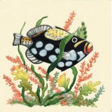"""8""""x8"""" Black Fish"""