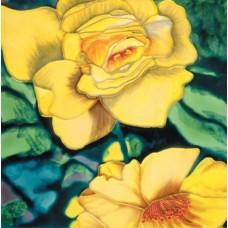 "8""x8"" Yellow Rose"