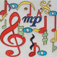 "8""x8"" Music Note"