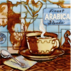 "8""x8"" Arabica Coffee Map"