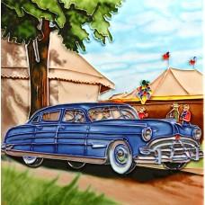 """8""""x8"""" Classic Car - Blue"""