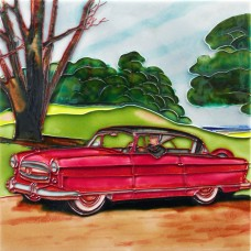 "8""x8"" Classic Car - Red"