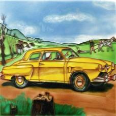 "8""x8"" Classic Car - Yellow"