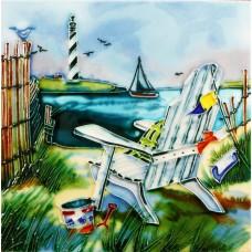 """8""""x8"""" Beach Chair - Light house view"""