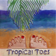 "8""x 8""  Tropical Toes"