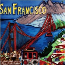 "8""x8"" San Francisco Golden Bridge"
