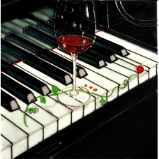 "8""x8"" Piano  Red Wine Music"
