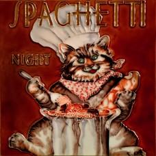 "8""x8"" Spaghetti Night Chef Cat"