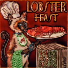 """8""""x8"""" Lobster Feast Chef Cat"""