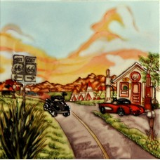 "8""x 8"" Highway 66 Gas Station"