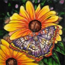 """8""""x8"""" Sunflower Butterfly"""