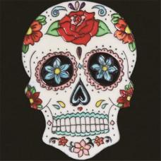 """8""""x8"""" Dia de Los Muertos - Day of the Dead Skull II"""