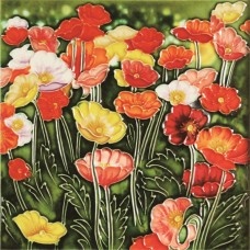 "8""x8"" Multicolor Poppies Flower"