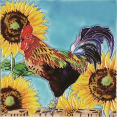 "8""x8"" Sunflower Morning Rooster"