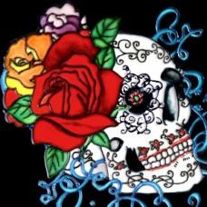 """8""""x8"""" Dia de Los Muertos - Day of the Dead Skull IV"""
