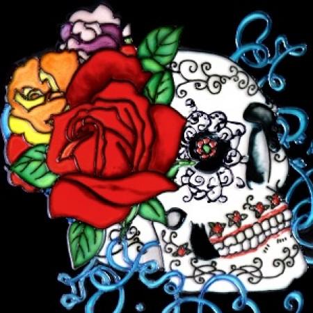 8x8 Dia De Los Muertos