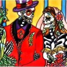 """8""""x8"""" Dia de Los Muertos - Day of the Dead Wedding"""