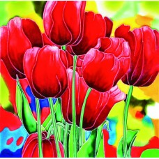 """8""""x8"""" Red Tulips"""