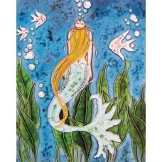 "11""x14"" Yellow hair mermaid"