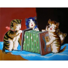 "11""x 14"" Cats Singing"