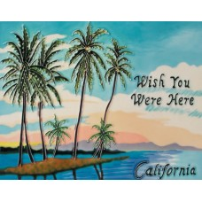 "11""x 14"" Wish you were here - California"
