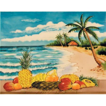 """11""""x 14"""" Fruits on Beach"""