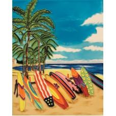 """11""""x14"""" Surfboards Beach"""