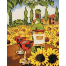 "11""x14"" Wine with Sunflower"